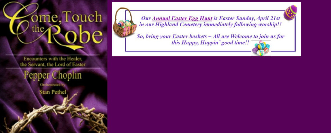 Join us for Easter Sunday!!