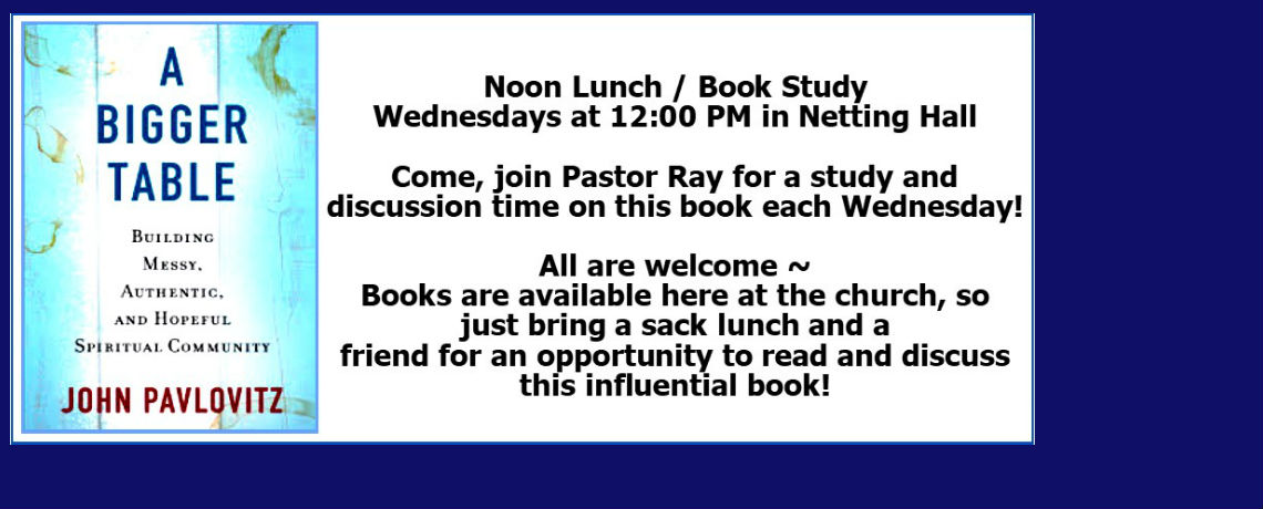 Noon Lunch / Book Study